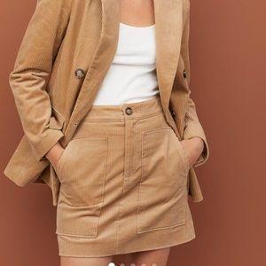 H&M corduroy skirt in beige